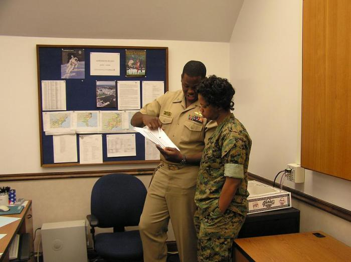 Me & Navy LT Rashad Jones working hard to bring the best & brightest to the U.S. Naval Academy