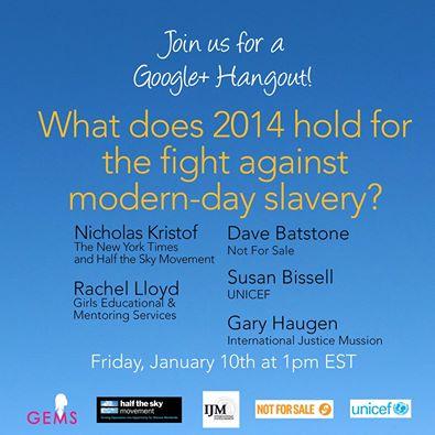 Human Trafficking Google Hangout Announcement