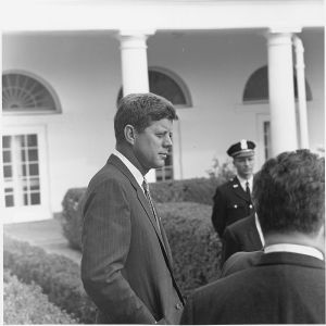 President JFK side view