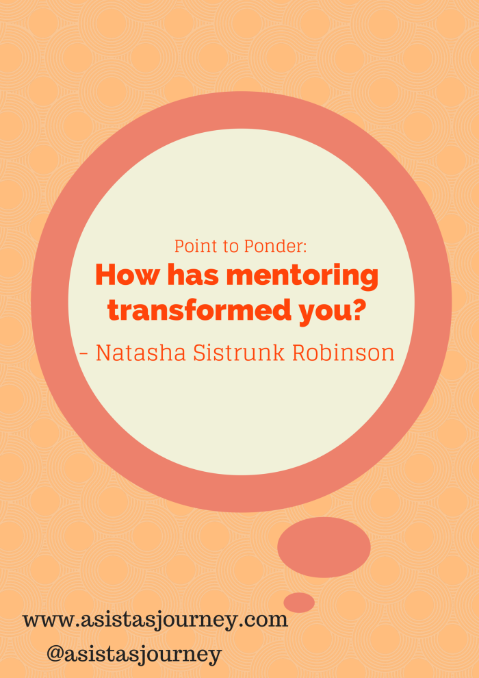 How has mentoring transformed you
