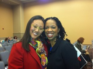 Me & another sister with a heart for reconciliation, Robyn Afrik