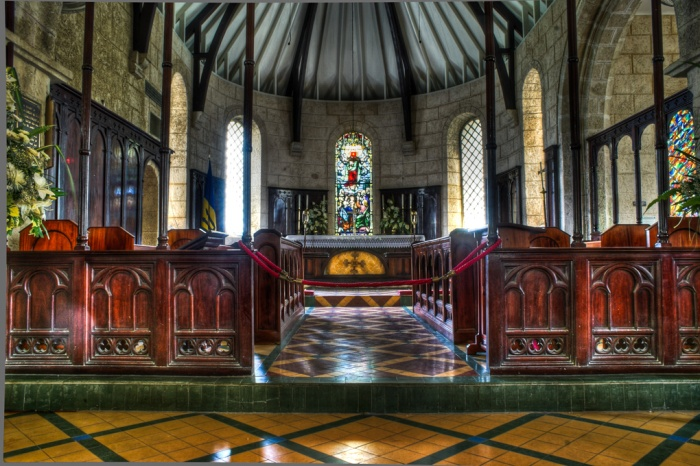 Christ Church parish church in Barbados in the West Indies, interior