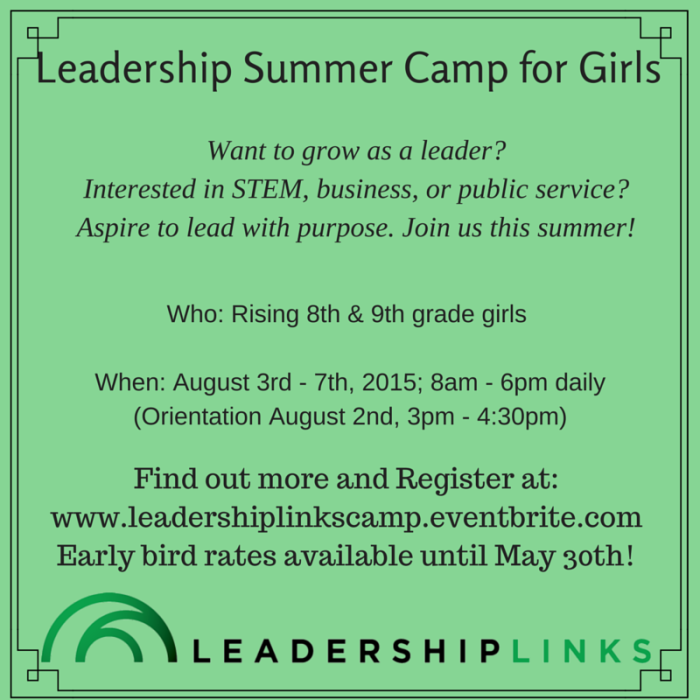 Leadership Summer Camp for Girls_Social Media Meme