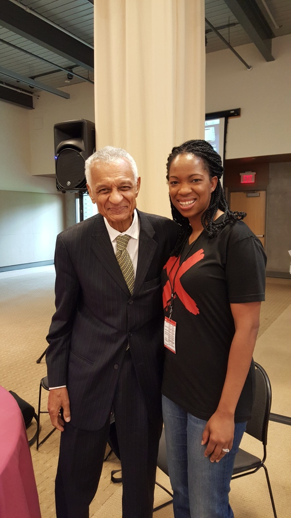 Me with Dr. C.T. Vivian, a hero of the Christian faith and champion of people. #ISalute
