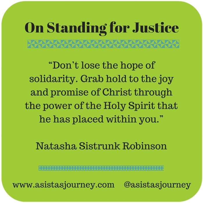 On Standing for Justice