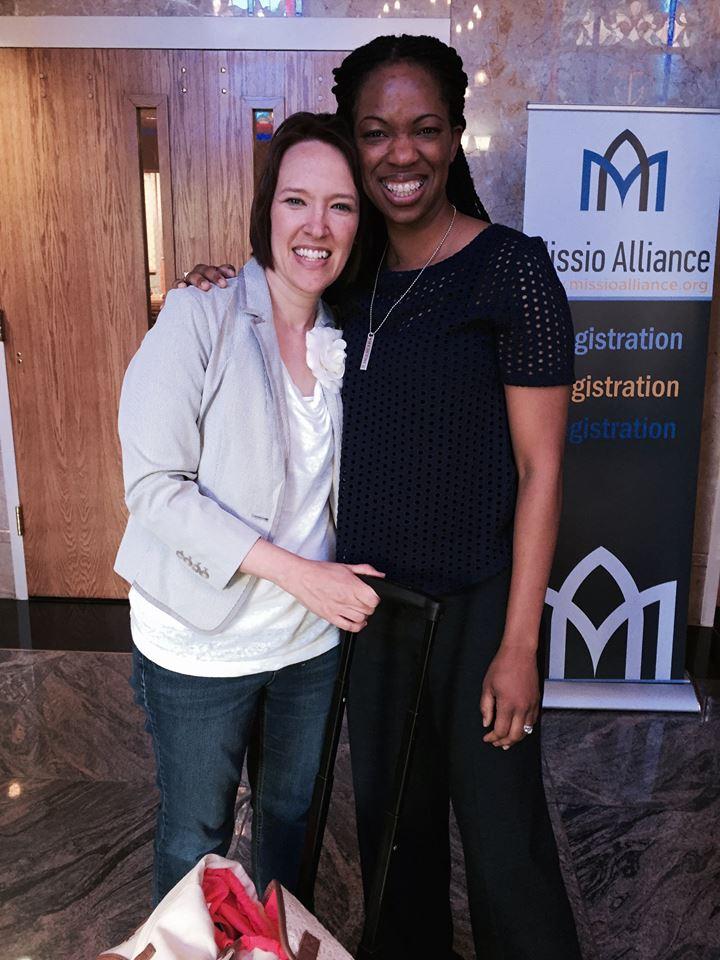 Suzie and Natasha at Missio